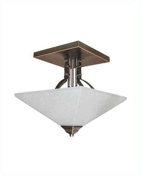 Glass Ceiling Ls by Lite Source Ceiling L Bronze W Glass Shade Ls