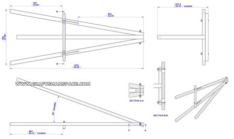 wood easel pattern wooden easel plans free woodproject