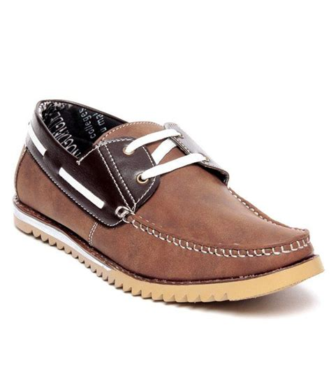 D Island Shoes Casual Leather Brown vs brown shoes images
