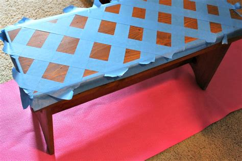 how to paint a wooden bench diy geometric painted bench