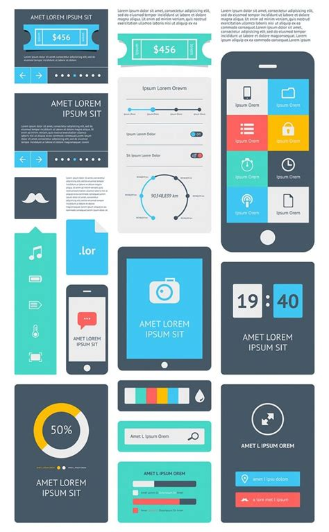 flat layout design 15 premium flat ui design templates boost your
