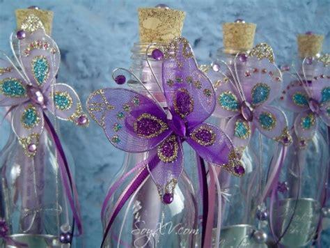 adorno de quince en mariposa tecnologias invitacion de 15 a 241 os con botella de vidrio