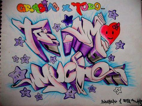 imagenes chidas en grafitis graffitis de te amo arte con graffiti