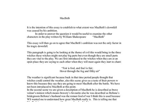 Macbeth Downfall Essay by Macbeth Downfall Essay Gse Bookbinder Co