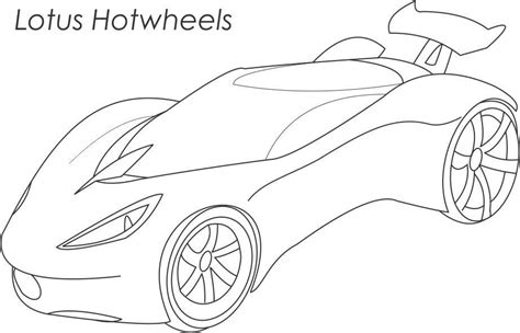 super car lotus hotwheels coloring page for kids