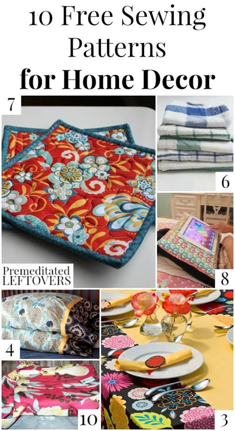 home decor sewing patterns 10 free home decor sewing patterns