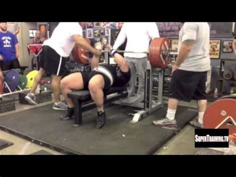 bench press world record world record bench press raw 722 lbs by eric spoto youtube
