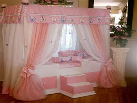 Disney Princess Canopy Bed Disney Princess Bed With Canopy Curtains For The Home