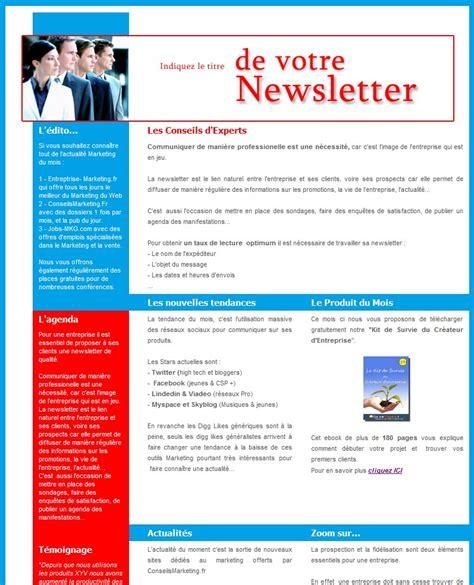 Newsletter Modèle
