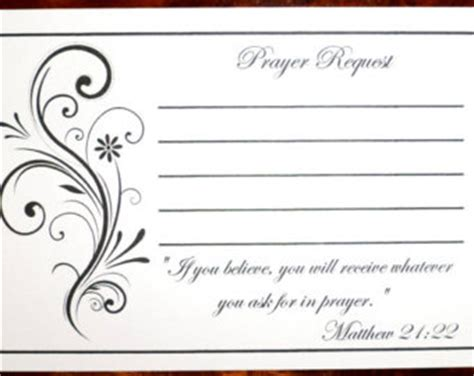 Prayer Request Cards 4x4 Template by Prayer Box Etsy