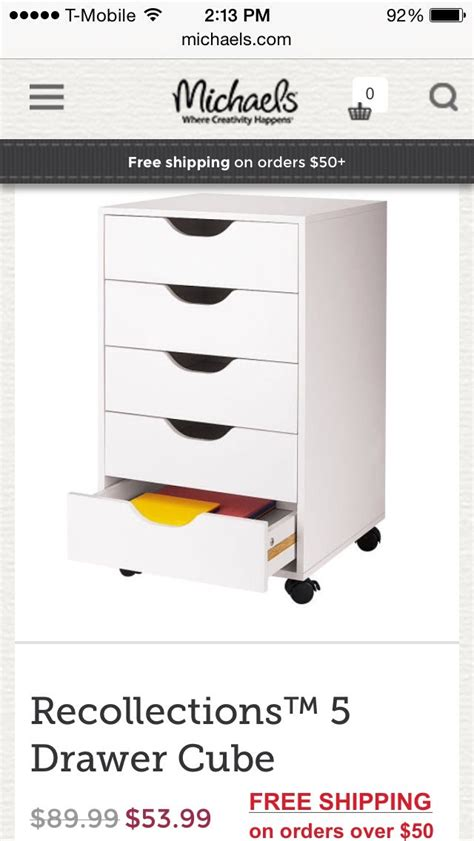 recollections 5 drawer cube michaels ikea alex drawers dupe trusper