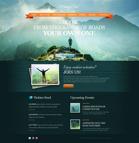 Hiking Website Template 41837 Adventure Website Templates