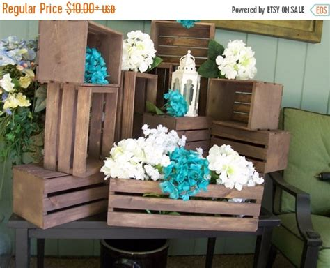 wood centerpieces for tables on sale wood crates rustic wedding wedding reception