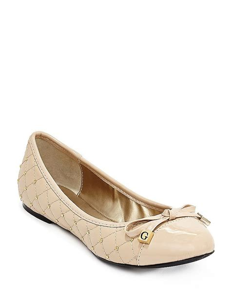 guess shoes flats guess quilted ballet flats
