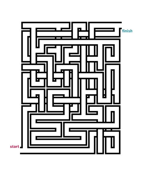 free easy mazes coloring pages