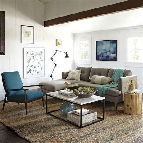jackson sectional west elm box frame coffee table mango wood west elm h o m e
