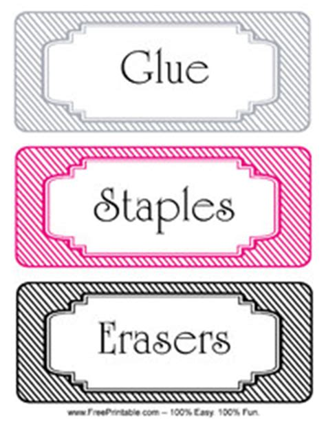 printable stickers staples striped classroom labels staples