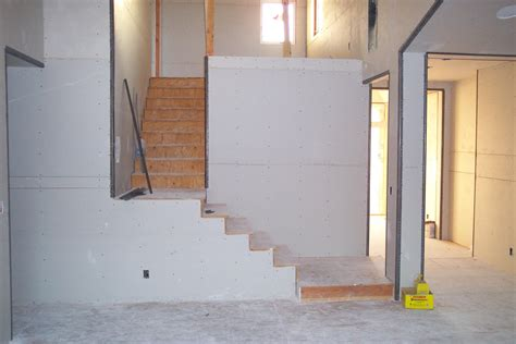 Drywalling A Ceiling By Yourself Drywalling Stairs