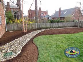 Backyard Dry River Bed Drainage Design Galleries Independence Landscape Amp Lawn Care