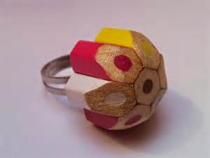 colored pencil ring how to recycle upcycled colored pencils accesories
