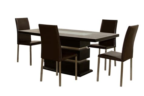 news dining table with 4 chairs on black dining room