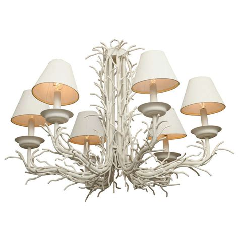 Branch Chandeliers White Faux Coral Branch Chandelier At 1stdibs