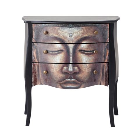 Small Black Chest Of Drawers by Wooden Chest Of Drawers In Black W 75cm Bouddha Maisons