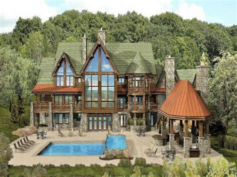 stylish luxury mountain home plans house plan and