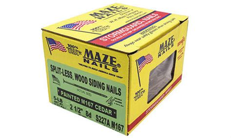 Cedar Siding Nails Menards - maze nail 8d cedartone ring shank splitless siding nail