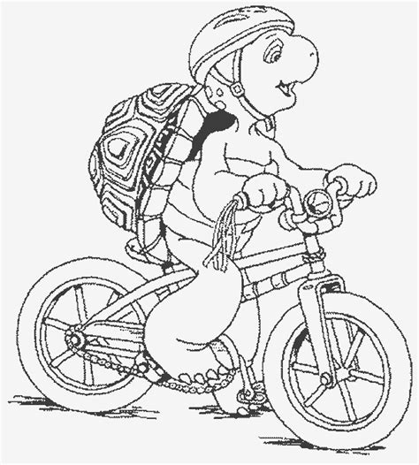 pin bicycle safety coloring pages on pinterest