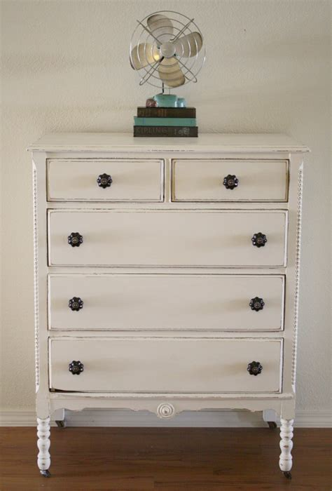 Paint A Dresser White shabby white dresser with chalk paint