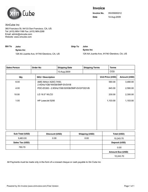 6 free construction invoice template word thistulsa