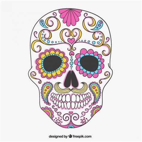 imagenes de calaveras dibujadas colorida calavera de az 250 car descargar vectores gratis