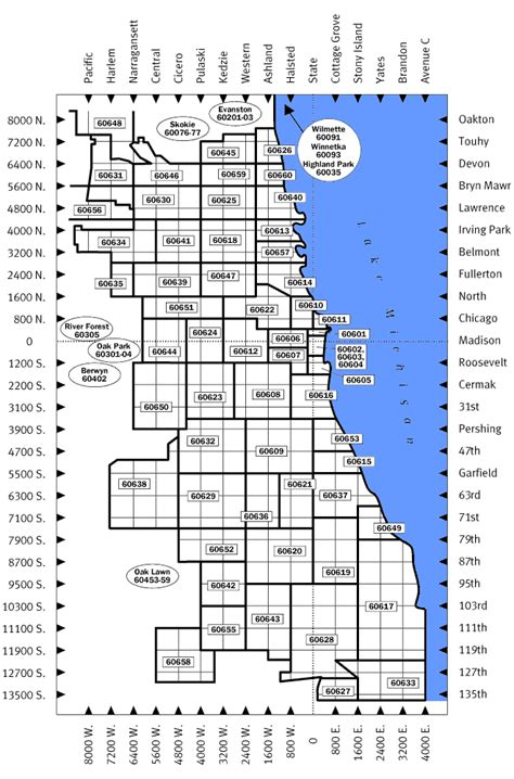chicago area code map zip codes northern illinois map