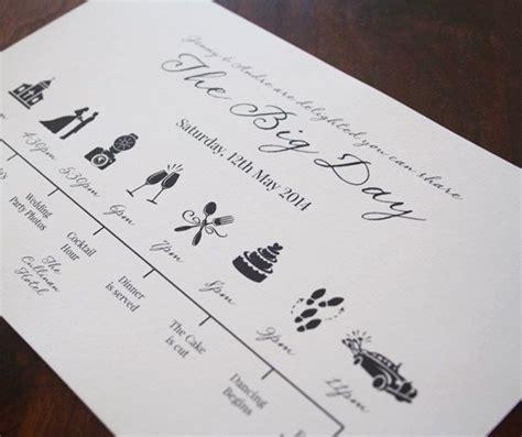 Hochzeitseinladung Tagesablauf by Hochzeit Timeline Druckbare Digitale Datei Angepasst Auf