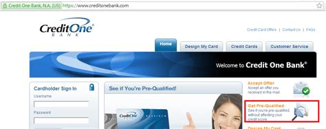 credit one view your pre approved pre qualified credit card offers