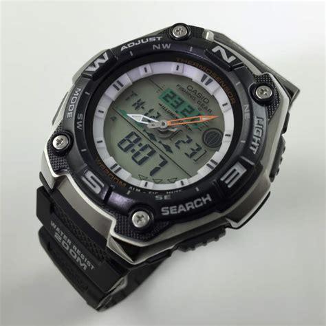 s casio sport fishing gear thermometer aqw101 1av