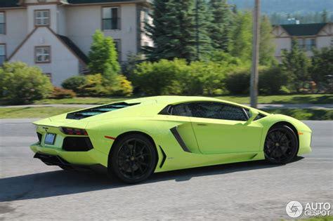 Lamborghini Canada Verde Lamborghini Aventador From Canada