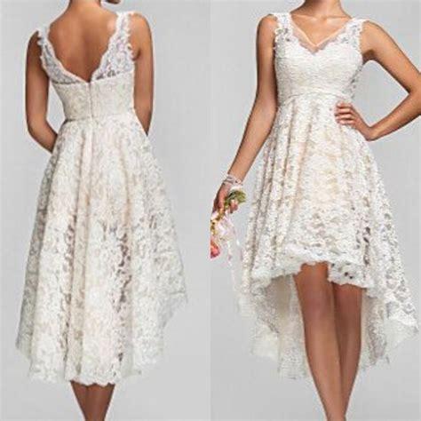 Garden Dresses 2015 2015 Plus Size High Low Wedding Dresses Vintage Lace V