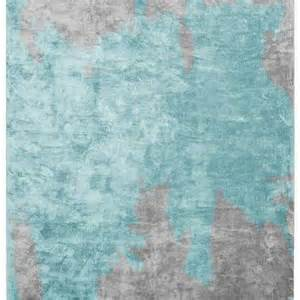 Gray And Blue Rug by Aqua Blue And Gray Abstract Rug