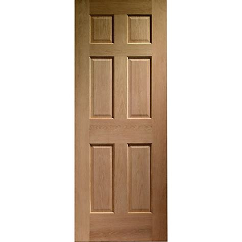 Wickes Doors Exterior Wickes Colonial External Oak Veneer Door 6 Panel 1981x762mm Wickes Co Uk
