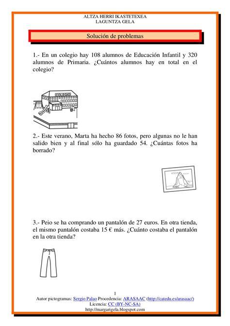 problemas para 2 de primaria slideshare newhairstylesformen2014com problemas tercero by margagutierrez via slideshare