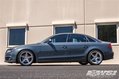 "2009 Audi A4 with 19"" TSW Mirabeau (2PC) in Silver (Multi Piece) wheels Wheel Specialists, Inc."
