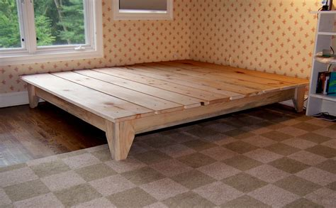 building a wooden bed frame how to build a platform bed frame