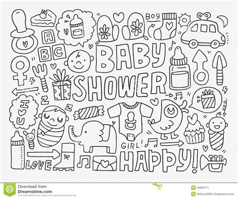 doodle doodle baby doodle baby background stock vector illustration of teddy
