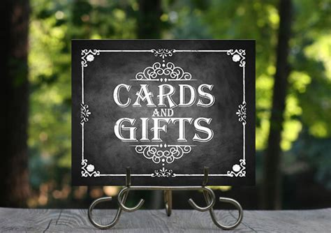 Cards And Gifts Wedding Sign - printable chalkboard wedding cards gifts sign wedding gifts cards rustic wedding