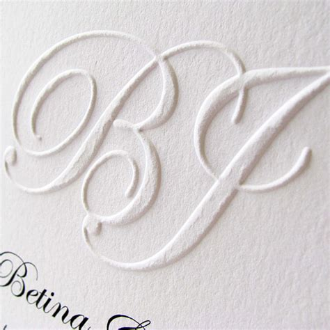 How To Make Embossed Paper - custom embossed monogram wedding invitation digby