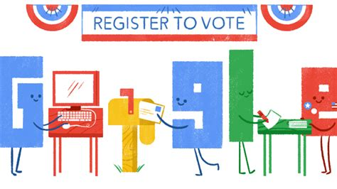 doodle to vote how to register to vote doodle marks national voter