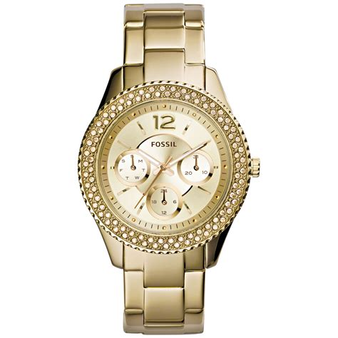 fossil s stella gold tone stainless steel bracelet