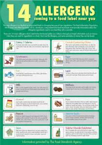 Food allergen guide for staff a3 poster sh499